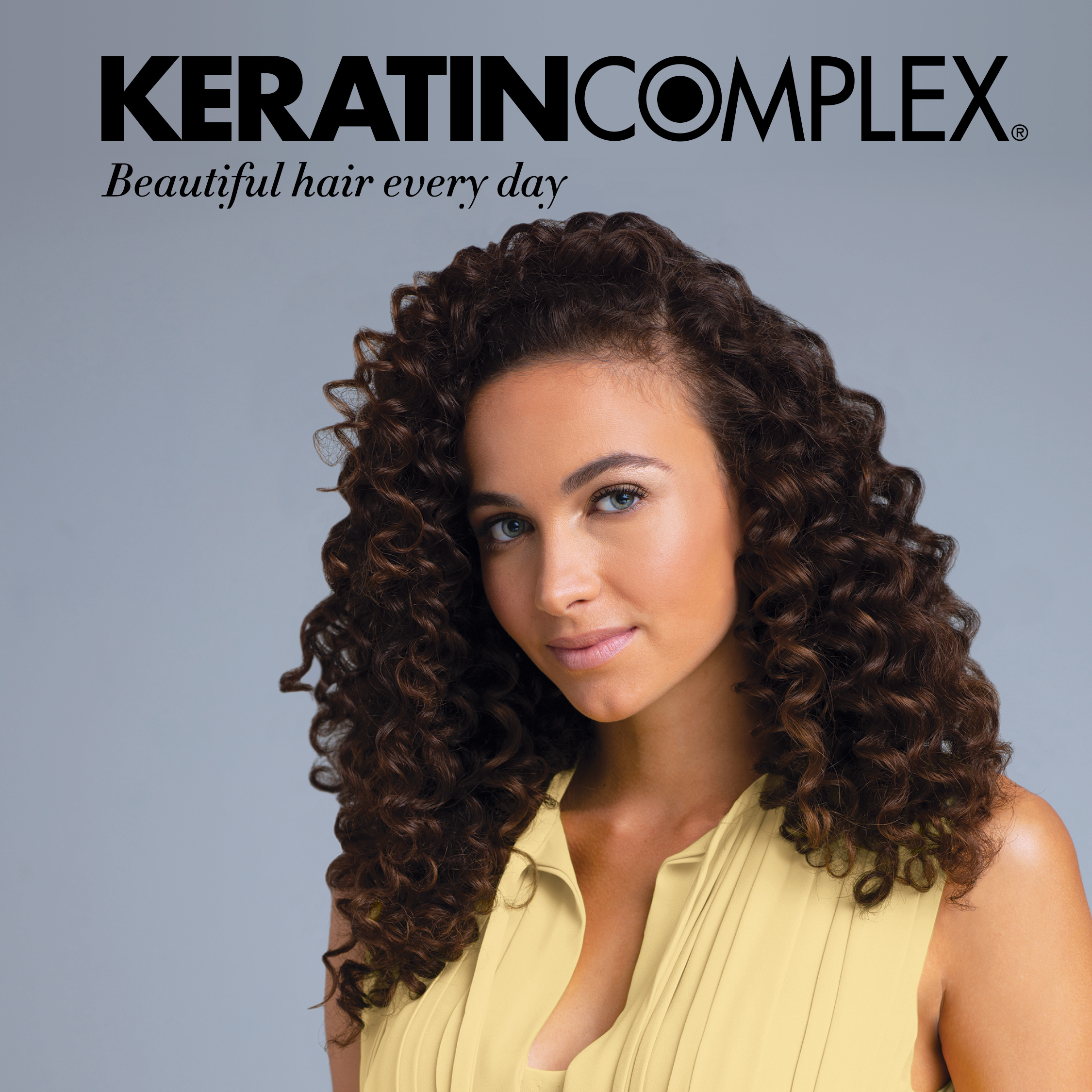 Keratin Complex Curly Model Poster