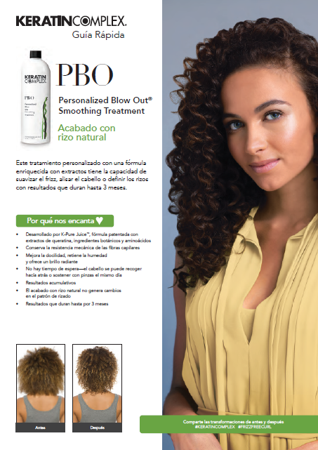 PBO Natural Curl Finish Quick Guide Spanish