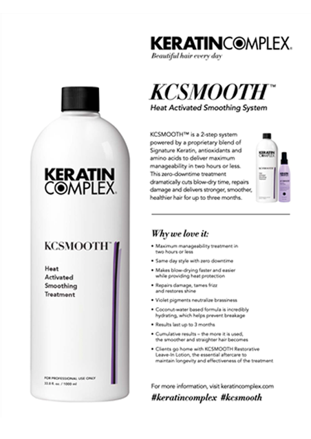 KCSMOOTH Heat Activated Smoothing Treatment Info Sheet